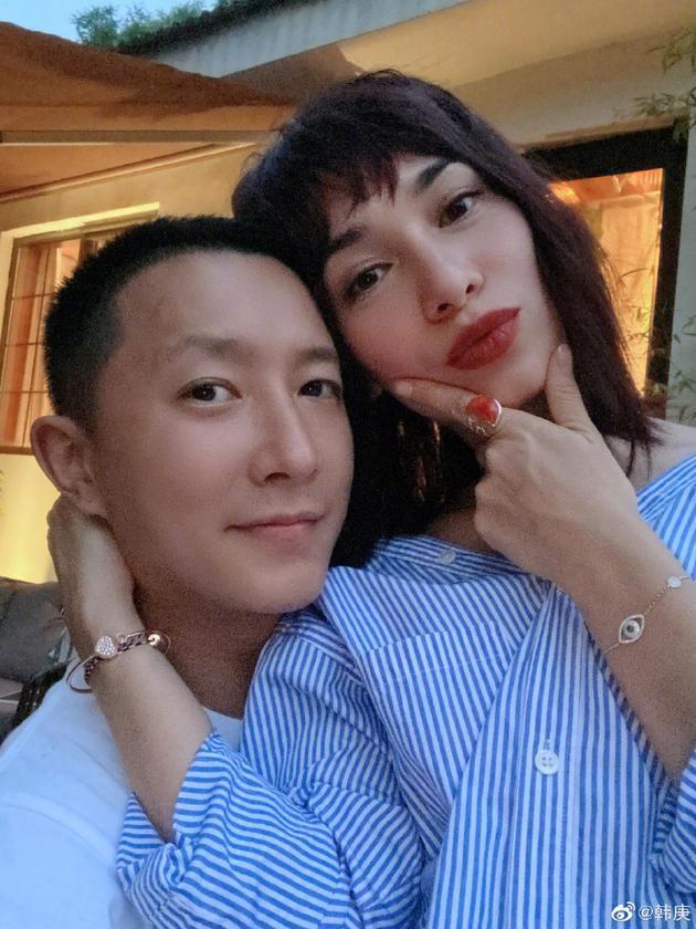 韩庚发文甜称我的爱人为卢靖姗庆生,二人更有夫妻相-第1张图片-爱薇女性网