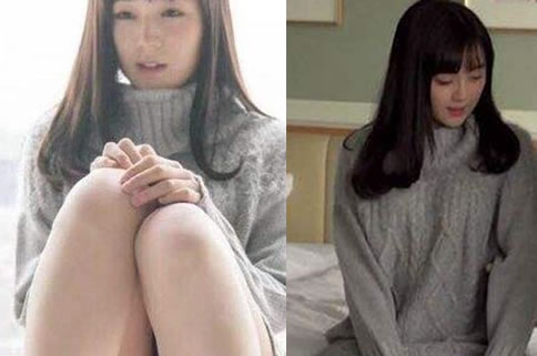 灰毛衣女神铃原爱蜜莉-第3张图片-爱薇女性网
