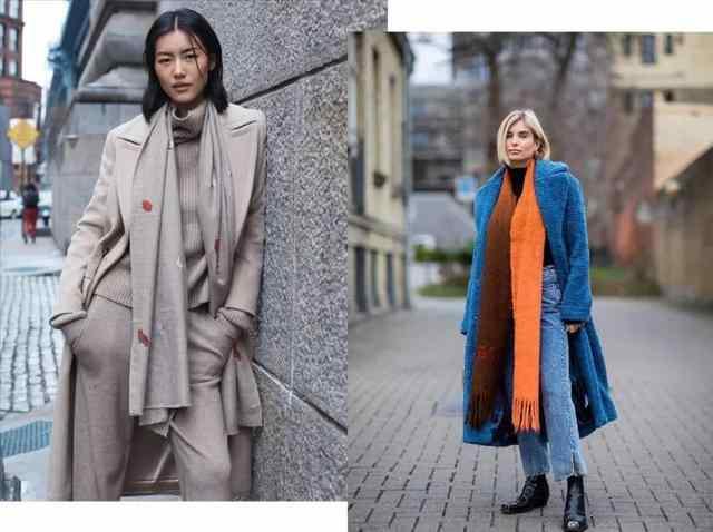 围巾怎样系才好看?掌握这几种方法,一般款还可以系出美女模特感-第2张图片-爱薇女性网